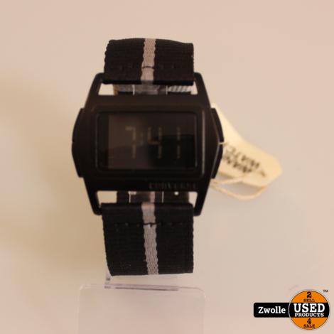 Converse horloge zwart   Lowboy Digitaal