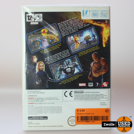 Wii game Fantastic four