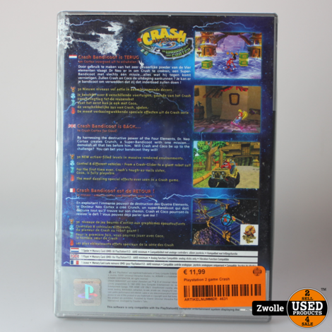 Playstation 2 game Crash
