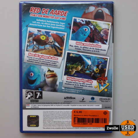 Monsters vs aliens Playstation 2 game
