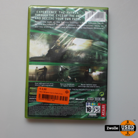 Xbox 360 game mat rix Path of neo