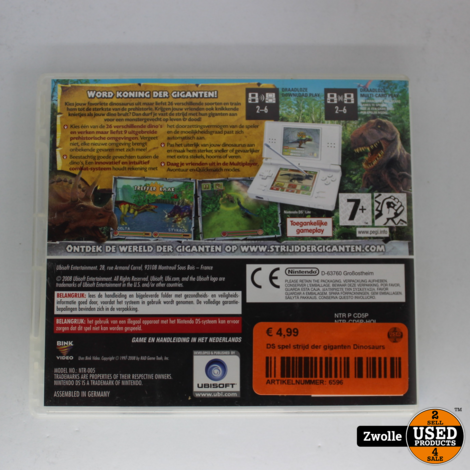 DS spel strijd der giganten Dinosaurs