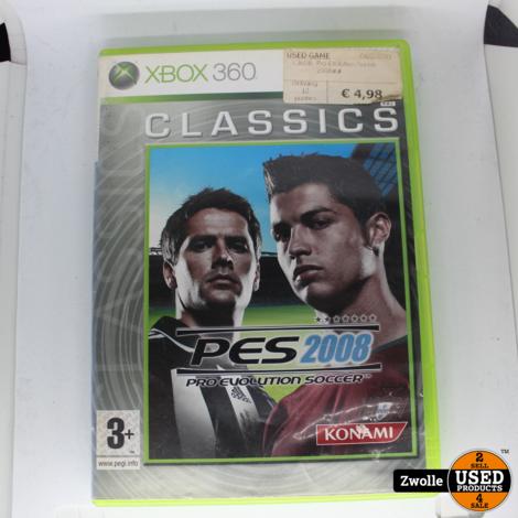 Xbox 360 game PES 2008