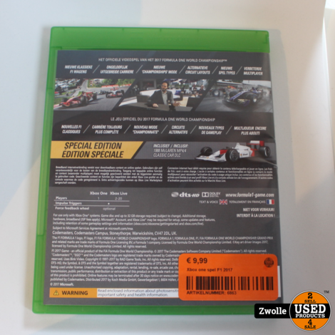 Xbox one game | F1 2017