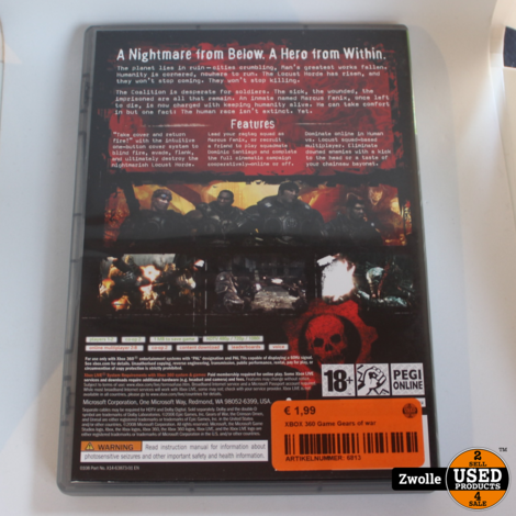 XBOX 360 Game Gears of war