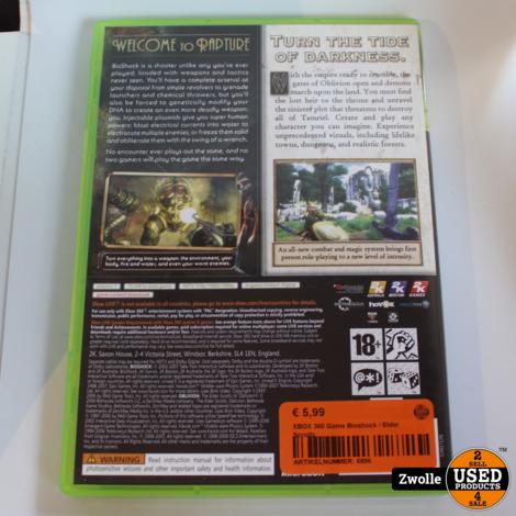 XBOX 360 Game Bioshock / Elder Scrolls