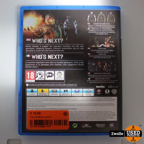 PS4 spel Mortal combat x