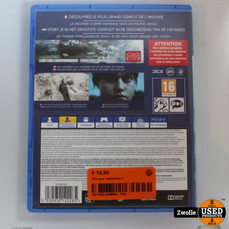 PS4 spel   Battlefield 5