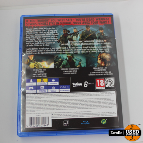 PS4 Game   Zombie Army Dead War 4