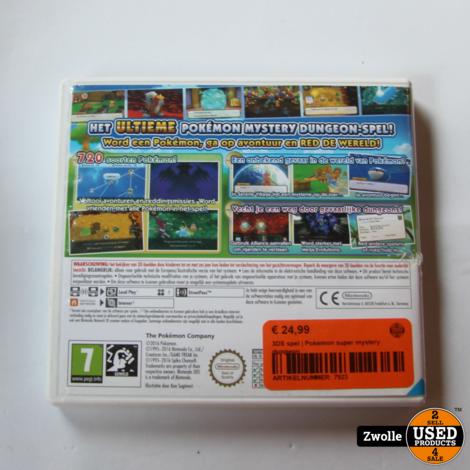Nintendo 3DS spel | Pokemon super mystery dungeon