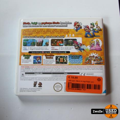 3DS spel | Mario & luigi Paper jam bros
