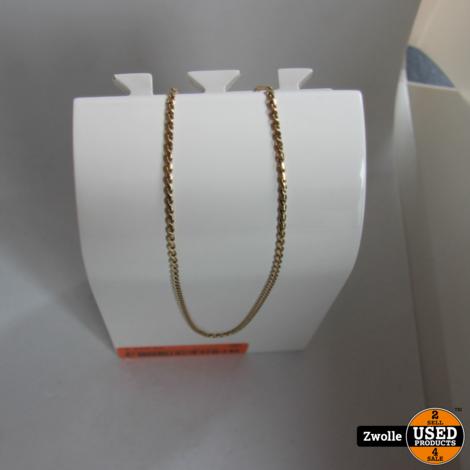 Gouden ketting Nugget / gedraaide Serpetine schakel   6.6 gram   14 karaat