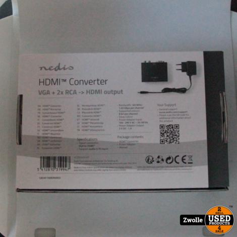 Nedis VGA-naar-HDMI™-Converter | 1-Wegs - VGA + 2x
