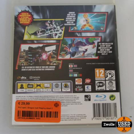 Ps3 spel | Dragon ball Raging blast 2