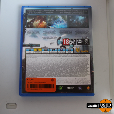 PS4 game | Killzone shadow fall