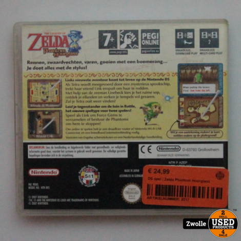 DS spel | Zelda Phantom Hourglass