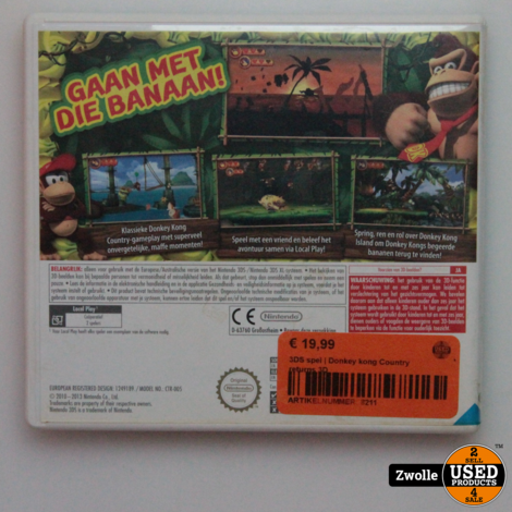 3DS spel | Donkey kong Country returns 3D