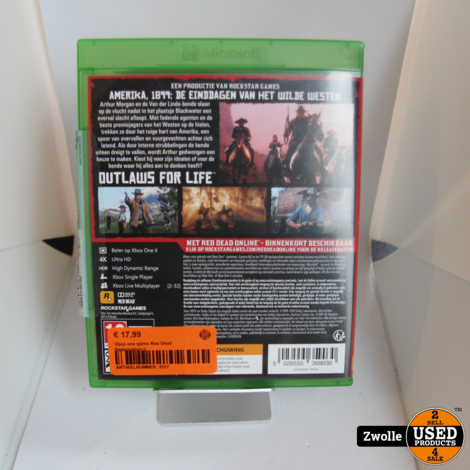 Xbox one game Red Dead Redemption II