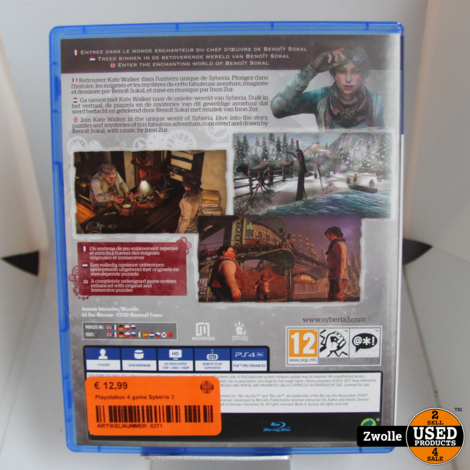 Playstation 4 game Syberia 3