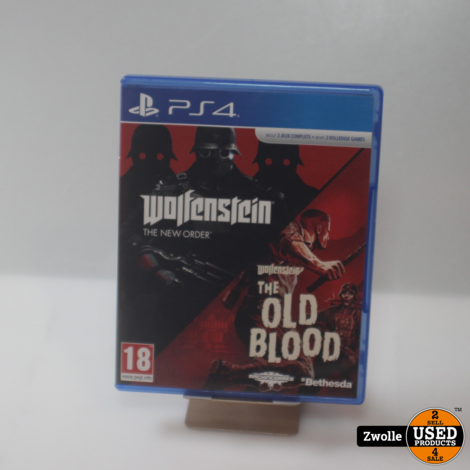 playstation 4 game wolfenstein the new order/the old blood