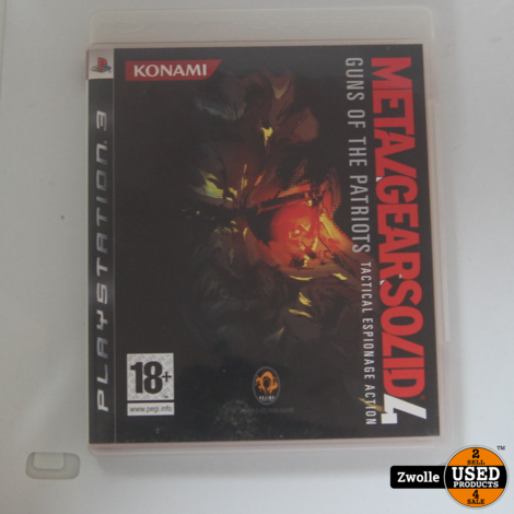 PS3 Game | Metal Gear Solid 4