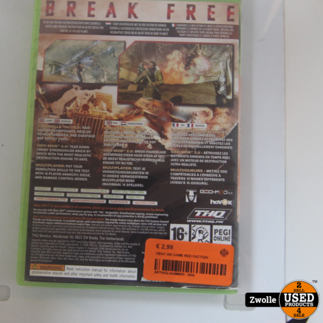 XBOX 360 GAME RED FACTION
