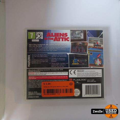 Nintendo DS game | Aliens in the Attic