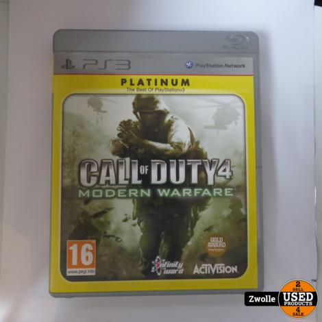ps 3 call of duty 4 modern warfare