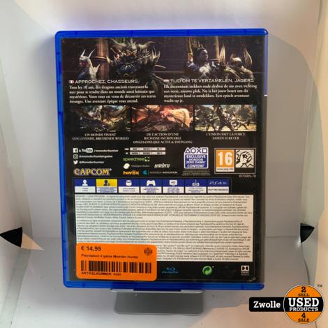 Playstation 4 game Monster Hunter