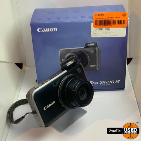 Canon powershot SX210 IS Digitale camera | Compleet in doos