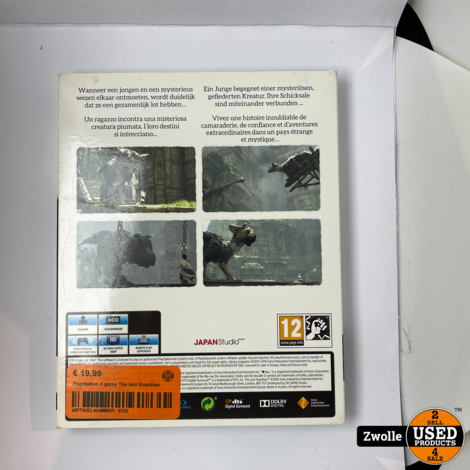 Playstation 4 game The last Guardian