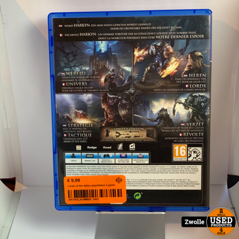 Lords of the fallen playstation 4 game