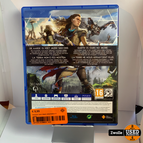 Horizon zero dawn playstation 4 game