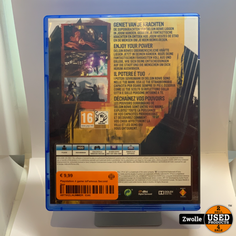 Playstation 4 game inFamous Second Son