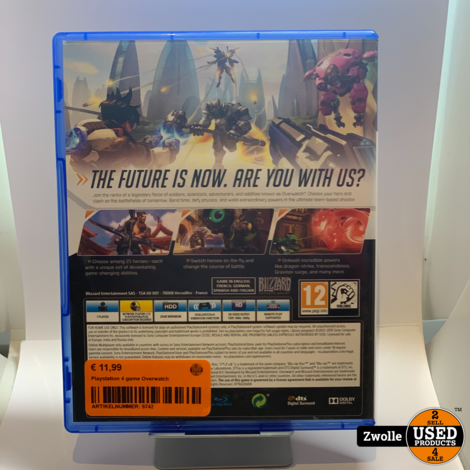 Playstation 4 game Overwatch