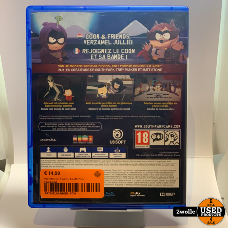 Playstation 4 game South Park Fractured