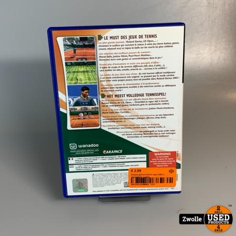 Roland garros french open 2003 || playstation 2 game