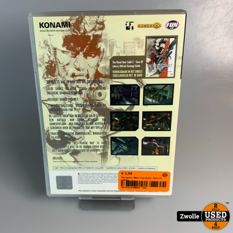 PS2 game | Metal Gear Solid - Sons Of Liberty