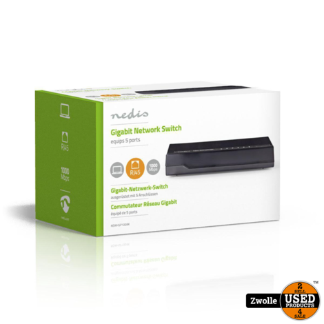 Nedis Netwerkswitch | 5 poorten | 1 Gbps | LED-ind
