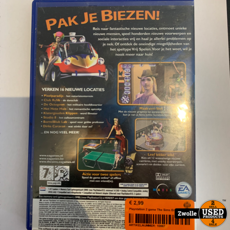 Playstation 2 game The Sims Erop Uit
