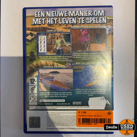 Playstation 2 game The Sims 2