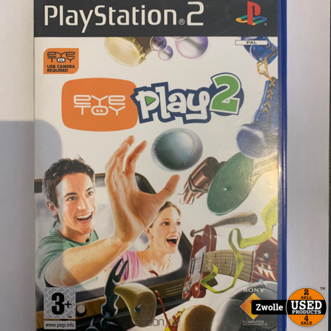 Playstation 2 game EYE TOY Play 2 met camera