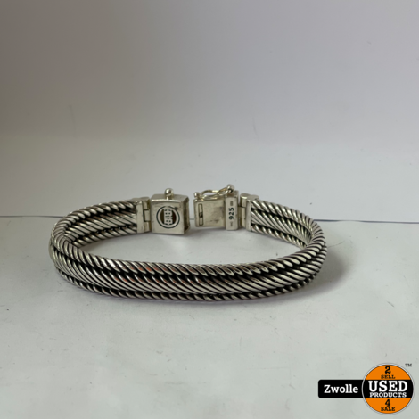 Buddha en Buddha armband Edwin | 925 zilver | 18 centimeter (19 inclusief gesp) XS