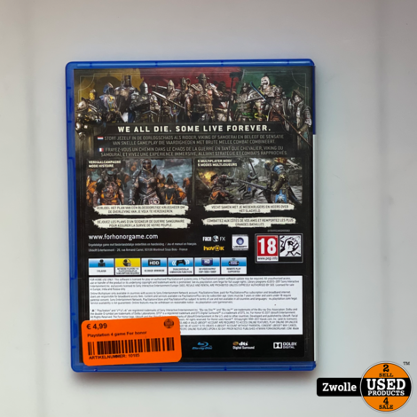 Playstation 4 game For honor