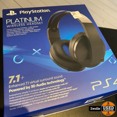 Sony PlayStation 4 Platinum Wireless Headset | Nieuw open doos