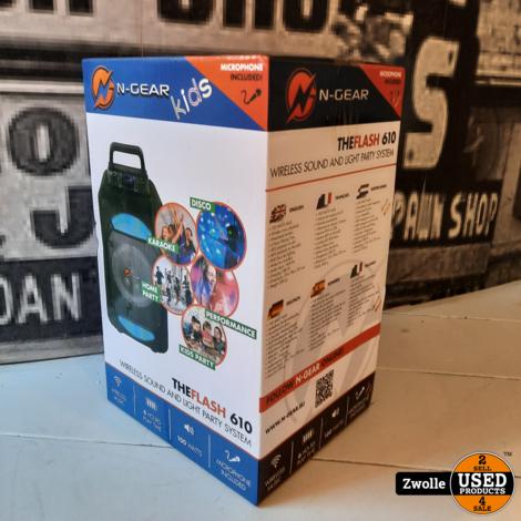 N-GEAR THEFLASH 610   draadloos geluid en licht feest systeem   Karaoke box met microfoon