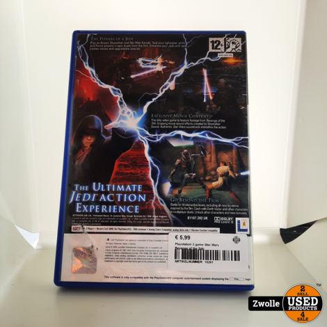 Playstation 2 game Star Wars Revenge of the Sith