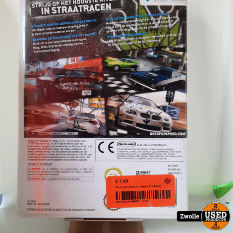 Wii Game Need for Speed ProStreet
