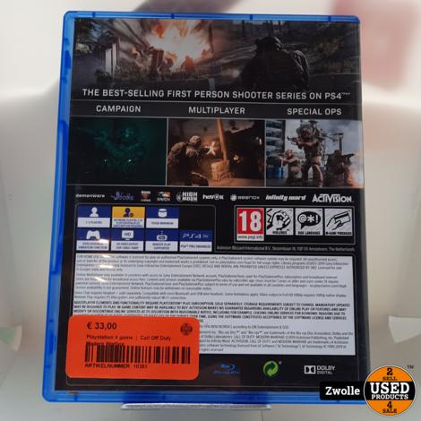 Playstation 4 game  |  Call Off Duty Modern Warfare