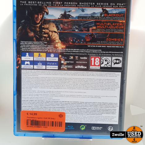 Playstation 4 game | Call Off Duty | black ops 4